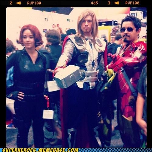 avengers Black Widow iron man sdcc 2012 Super Costume Thor - 6419613440