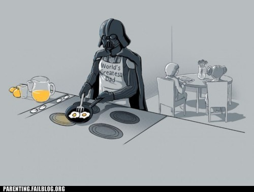 breakfast,dad,darth vador,eggs,star wars