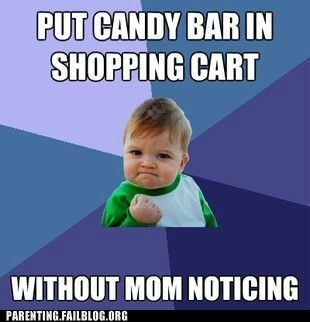 candy bar grocery store mom shopping cart - 6419655424