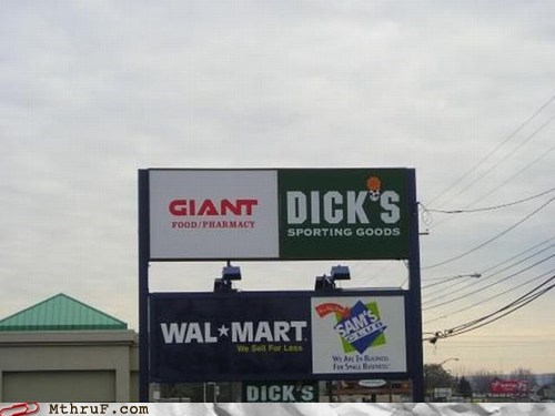 dicks sporting goods shopping mall strip mall Walmart