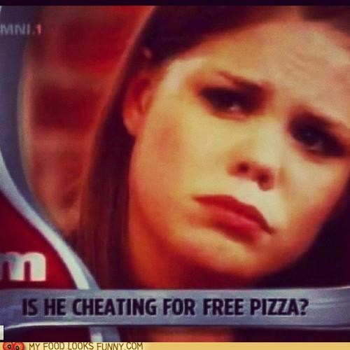 cheating maury pizza screencap TV woman