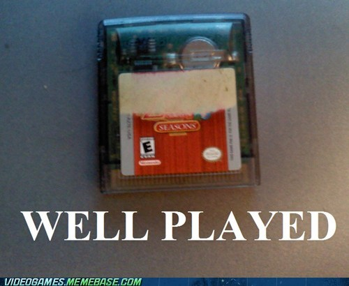 game boy gamer IRL oracle of seasons well played zelda - 6419838976