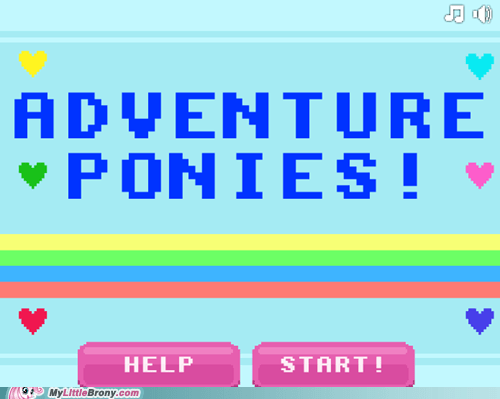 adventure ponies amazing best of week comic con mlp 8bit the internets video game - 6419860736