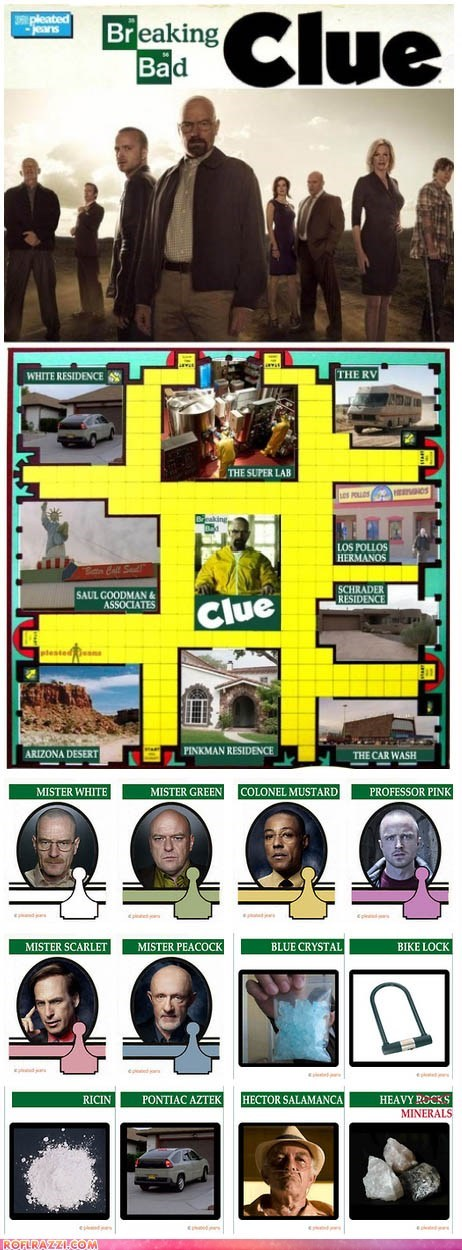 amc breaking bad bryan cranston clue funny game TV - 6419901440