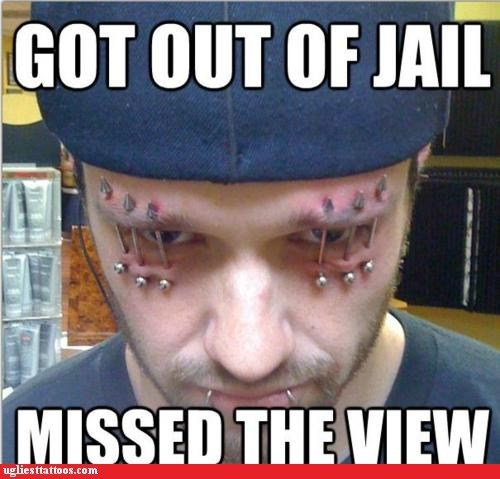 eyelids Hall of Fame piercings prison bars - 6419924736