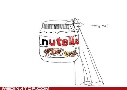 funny wedding photos,nutella