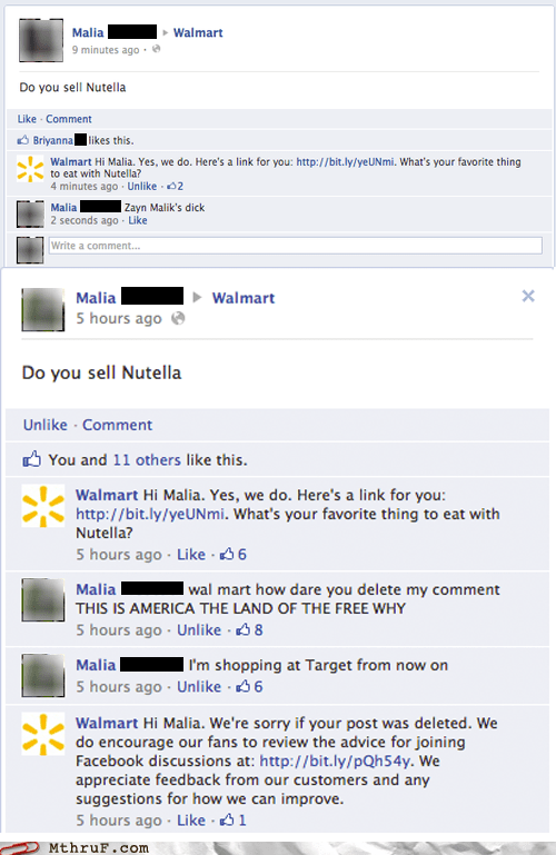 facebook failbook malia nutella Walmart - 6420128512