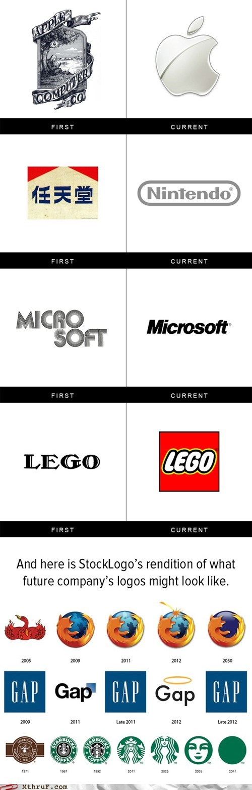 Lego My Logo! A Compilation of Company's First vs. Current Logos