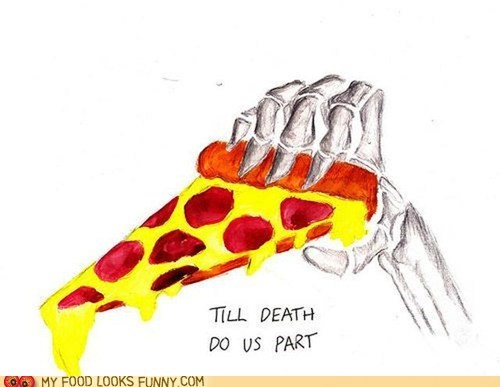 Death drawing hand marriage pepperoni pizza - 6420204544