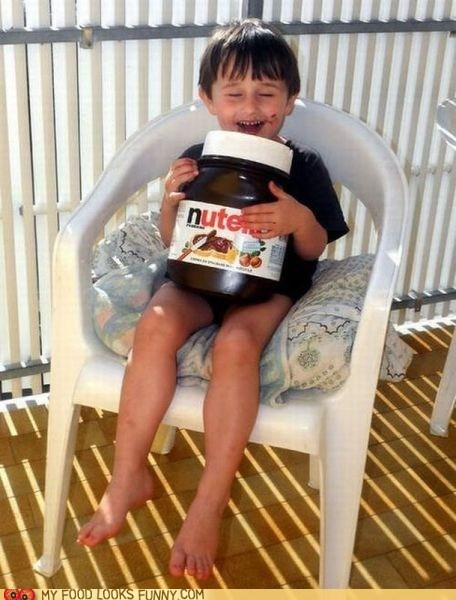 chocolate giant happy jar kid nutella