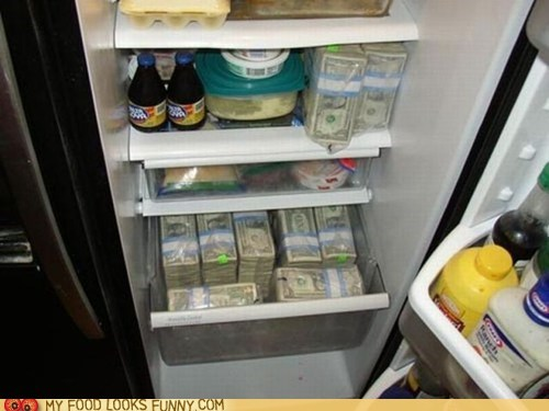 cash cold fridge money - 6420215552