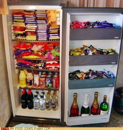 candy,chocolate,fridge,stash,sweets