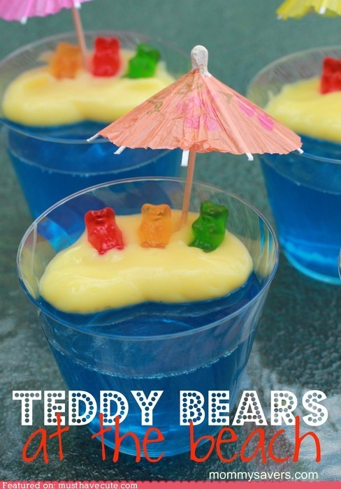 beach best of the week epicute gummy bears Jello pudding umbrella - 6420385536