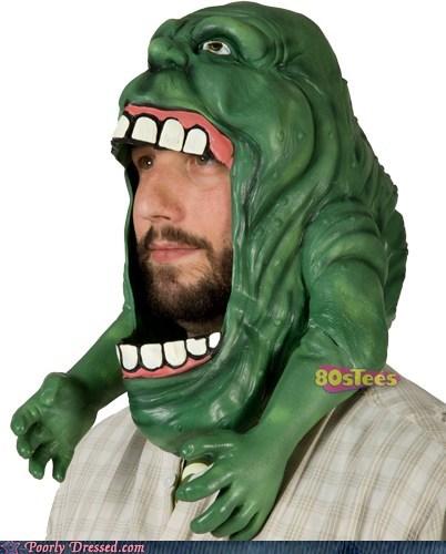 80s Ghostbusters halloween mask nerdgasm nostalgia slimer - 6420438016