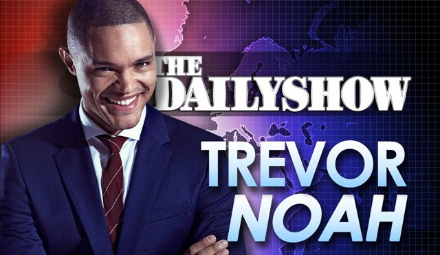 debut john boehner the daily show winking pope Trevor Noah first show