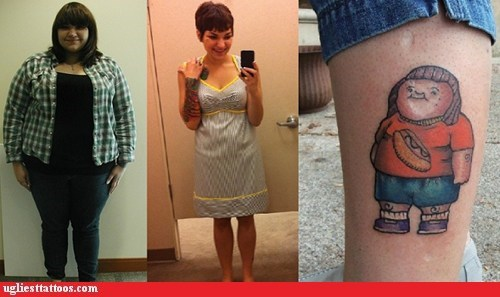Before And After,leg tattoos,weight loss