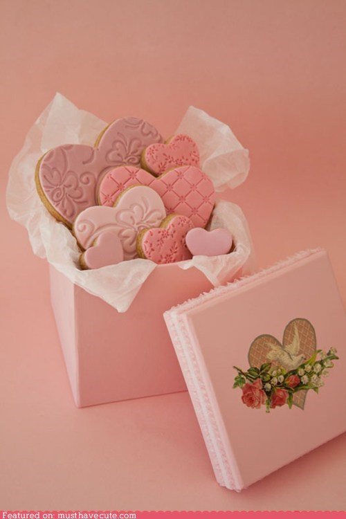 cookies epicute hearts love pink sweet - 6420702464