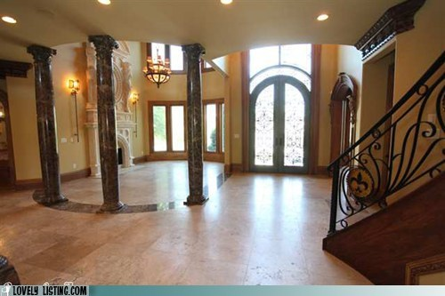 columns fireplace foyer pentagram satan stairs witchcraft