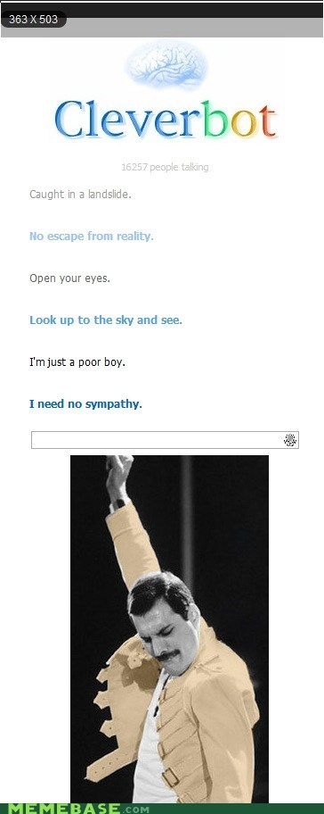Cleverbot freddie mercury queen Text Stuffs - 6420736256