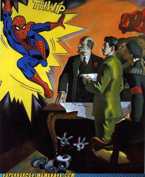 Awesome Art communist mickey mouse Spider-Man wtf - 6420739840