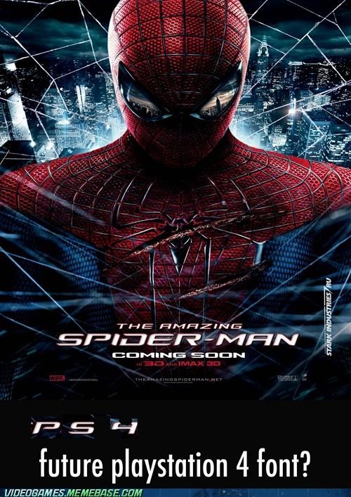 font hidden playstation poster Sony Spider-Man - 6420828160