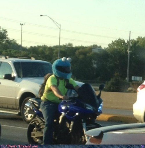 best of week Cookie Monster custom DIY Hall of Fame helmet motorcycle Sesame Street - 6420997632