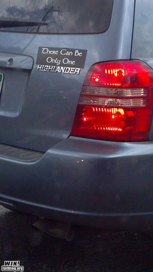bumper sticker highlander there can only be one - 6421005568