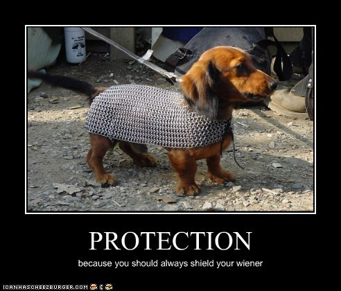 PROTECTION because you should always shield your wiener