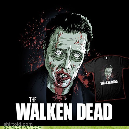 christopher walken,homophone,literalism,shirt,similar sounding,The Walking Dead,walken,zombie