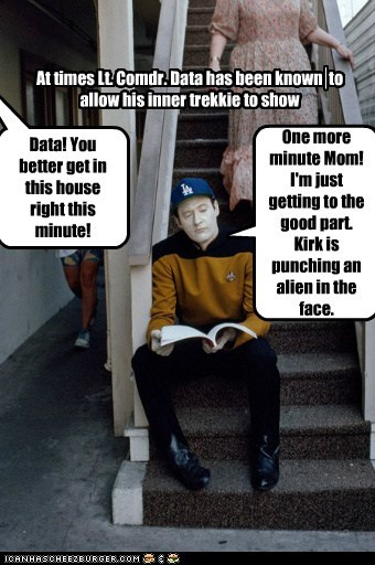 brent spiner,data,fan,kirk,reading,script,trekkie