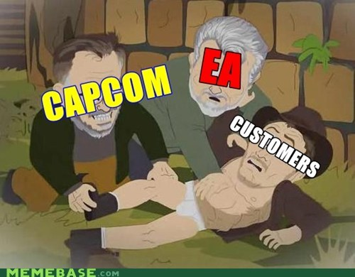 capcom,customers,DLC,EA,Indiana Jones,South Park,the feels