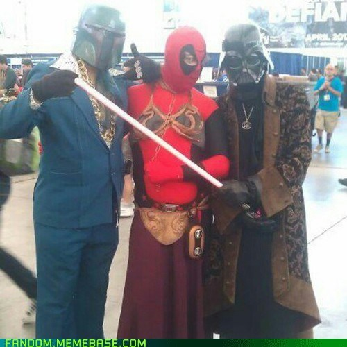 boba fett,cosplay,darth vader,deadpool,scifi,star wars,superheroes