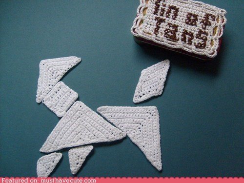 craft crochet DIY pattern tangrams tin - 6422072320