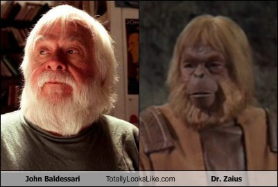 dr zaius,funny,john baldessari,Movie,Planet of the Apes,TLL