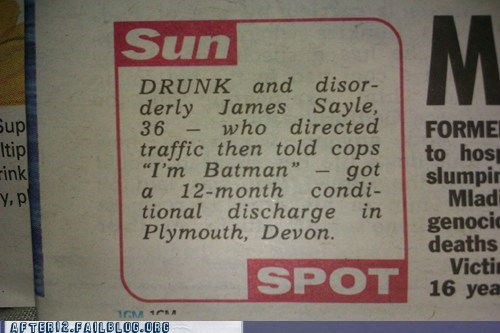 arrested,batman,probation,traffic cop