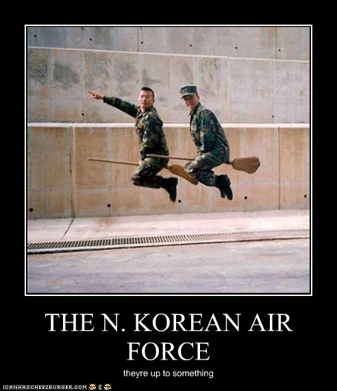 THE N. KOREAN AIR FORCE theyre up to something