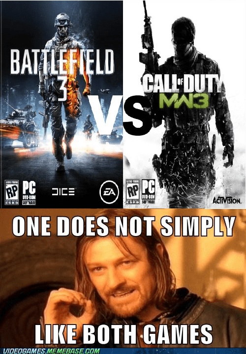 Battlefield 3 call of duty meme one does not simply video games