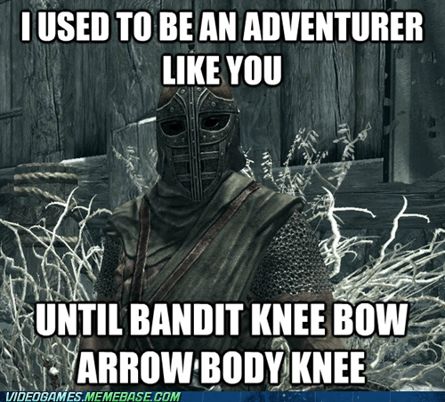 arrow to the knee best of week man door hand hook car do man door hand hook car door meme Skyrim - 6422734592