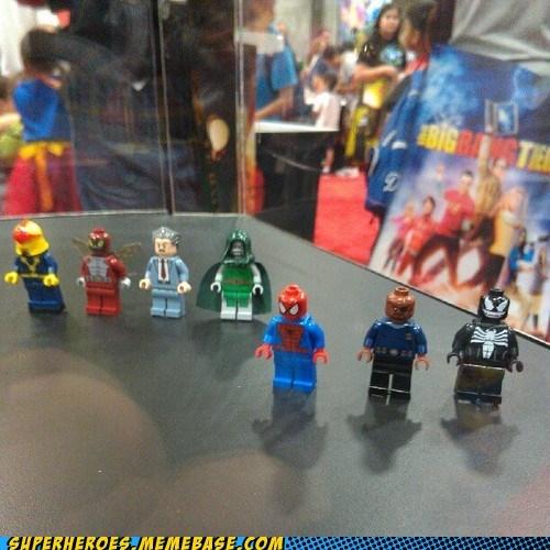 lego,marvel,Nick Fury,Random Heroics,sdcc 2012,Spider-Man,Venom