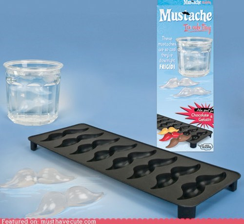 drink ice ice cubes mold mustache - 6422796544