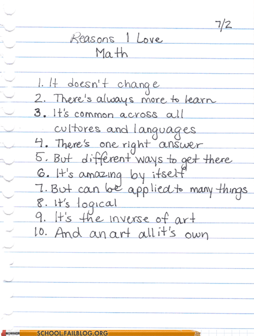 Hall of Fame,list,math,reasons to love math