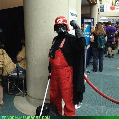 cosplay crossover darth vader scifi star wars Super Mario bros video games - 6422895360