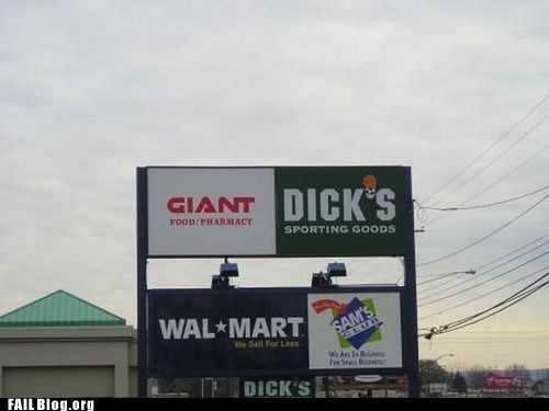 dicks sporting goods,funny signs,giant
