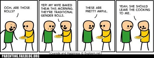 comics cyanide and happiness gender roles rolls - 6422913280