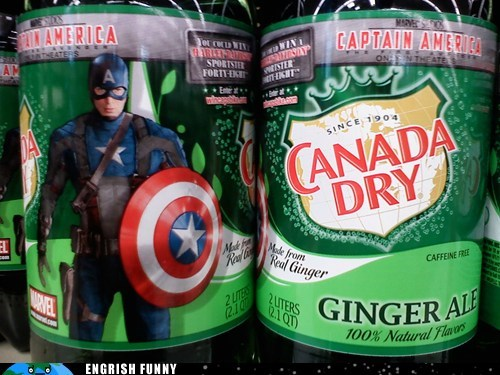 canada dry,captain america,ginger ale,steve rogers,The Avengers