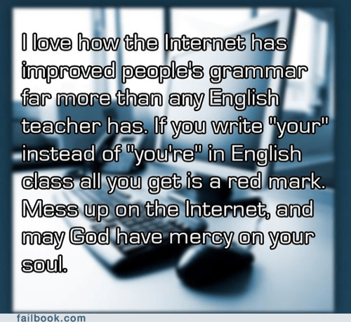 english,failbook,g rated,grammar,your,youre