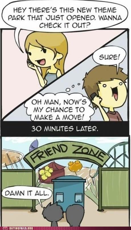 comics make a move the friend zone theme park - 6422994176