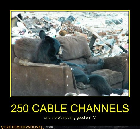 250 CABLE CHANNELS and there's nothing good on TV