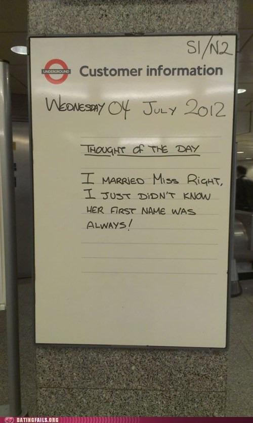 always right married miss right thought of the day - 6423150848
