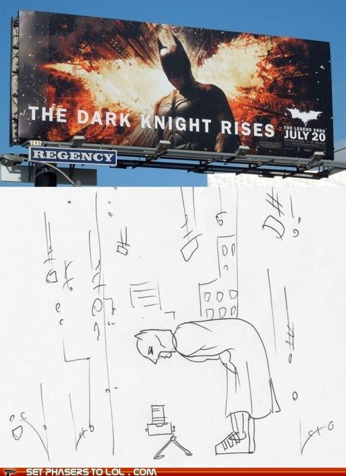 batman bending over bruce wayne camera photography poster the dark knight rises - 6423202304